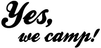 Wandspruchde Yes We Camp Wandtattoo