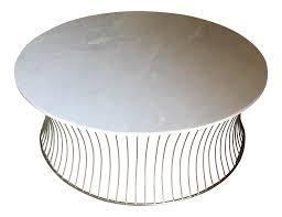 pinera white marble top coffee table chairish