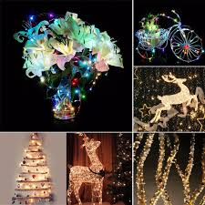 2m 20led on cell battery powered string silver copper wire mini fairy lights party home decor