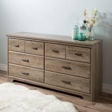 Weathered Oak Furniture South Shore Versa 6 Drawer Double Dresser Weathered Oak Home
