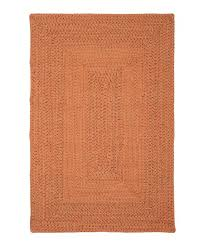 orange braided rug
