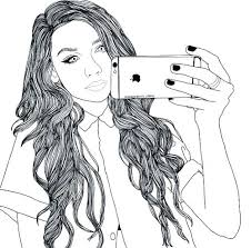 Coloring Pages Girls Cute For Anime Girl Elf With Long Hair Ilovez