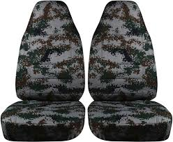 green digital camo car seat covers
