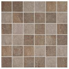 longbrooke slate mix 12 in x 12 in x 6 mm glazed ceramic mosaic