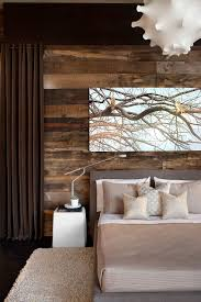of rustic design will enjoy the presence of reclaimed wood in the contemporary bedroom