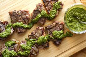 Grilled Lamb Chops With Herb Mint Sauce The Hungry Hutch