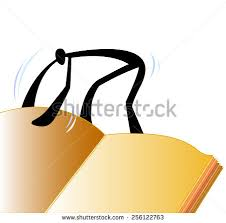shadow man open big book and reading big book you can input your word in book