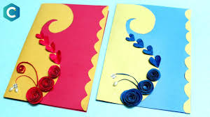 Chart Paper Greeting Card How To Make Customized Greeting Card Latest Greeting Cards Design Greetingcard Diy