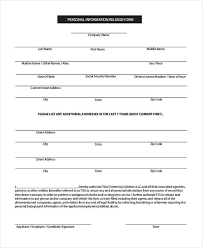 Sample Employee Personal Information Forms 7 Free Documents In Pdf