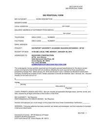 Free 9 Bid Proposal Samples In Pdf Word