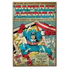 "Captain <b>America</b> ""The First""Marvel Comic Book <b>Cover Wall</b> Décor ..."