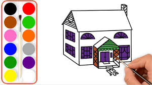 How To Draw A House For Kids House Drawing Simple Beautiful House