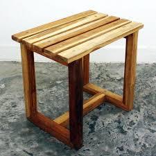 teak wood handmade teak oil finished spa stool thailand