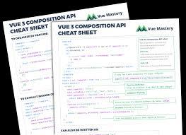 Refference Sheet Download Free Vue 3 Cheat Sheet Vue Mastery