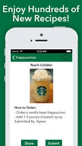 secret menu for starbucks on the app