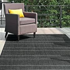 8 x 13 area rug black indoor outdoor pinstripes