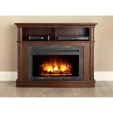 whalen a fireplace console for tv s up to 45 rustic brown com