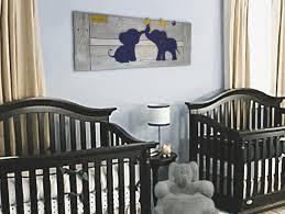 elephant twin nursery wall art navy baby room decor custom on wood elephant nursery wall art with elephant twin nursery wall art navy baby room decor custom super tech