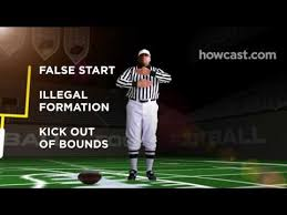 High School Football Referee Signals Chart How To Know What The Referee Is Signaling While Watching