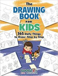 the drawing book for kids 365 daily things to draw step by step woo jr kids activities books woo jr kids activities 9780997799378 amazon
