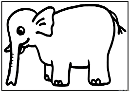 Small Picture A4 Size Printable Elephant Coloring Pages for Kids