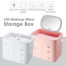 led makeup mirror storage box 10x