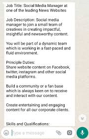 Social Media Manager Needed - Opportunities For Young Kenyans