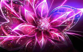 Neon Flowers wallpaper | 1280x800