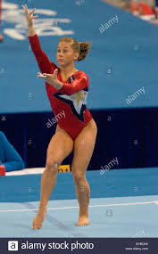floor gymnastics shawn johnson. Shawn Johnson (USA) Competing In The Gymnastic Qualification Competition At 2008 Olympic Summer Games, Beijing, China Floor Gymnastics