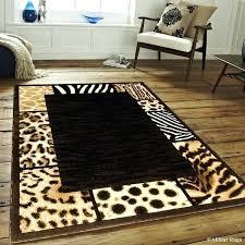 black high density double shot exotic animal skin rug 7 1 x 5 2 free