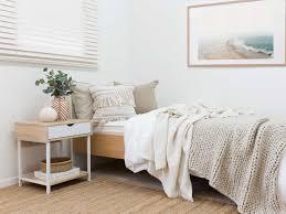 bedroom furniture bedside tables. Mocka Vigo Bedside Table - Black With Brooklyn Single Bed, Madison Cushion , Penny Throw Bedroom Furniture Tables T