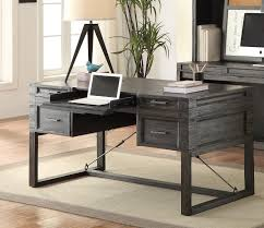 hudson 60 inch writing desk with power center in vintage midnight finish by parker house hud 985