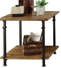wood and wrought iron furniture. Homelegance Factory Rectangular End Table With Pertaining To Iron Tables Plans 0 Wood And Wrought Furniture