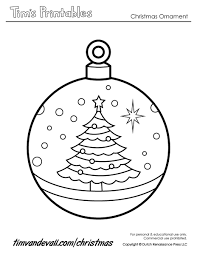 Small Picture Coloring Pages Printable Paper Christmas Ornament Templates