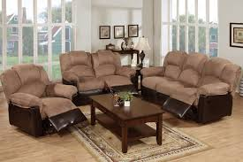 Leather Reclining Living Room Sets Arles 3pieces Motion Recliners Living Room Set F6684 85 86
