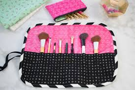 free make up brush roll sewing tutorial by sweet red poppy learn how to sew