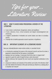 Literature Review In Proposal Writing Organizing Your Social