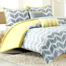 twin extra long comforter chevron print set yellow white duvet cover