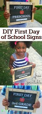 diy first day of school signs with ruler frame the kids are getting ready to