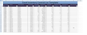 inventory control spreadsheet template excel inventory control list template xls projectmanagementwatch