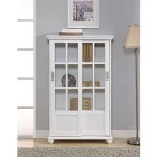 Altra Aaron Lane Bookcase with Sliding Glass Doors, White - Walmart.com