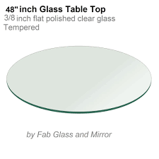 glass table top 48 inch round 3 8 inch thick flat polish