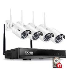 4-Channel 1080p 1TB Hard Drive NVR Security Camera System with 4 Wireless Bullet Cameras Systems - The