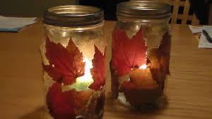 Decorating Jam Jars For Candles DIY Fall Lantern DIY Autumn Candle Jar Holder YouTube 15
