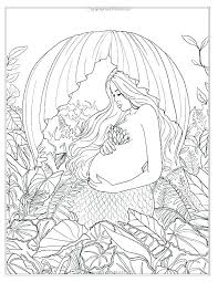 Elegant Mermaid Coloring Pages For Adults Or Mermaid Coloring Pages
