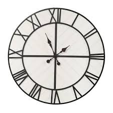 henry black and white wood wall clock