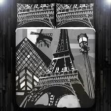 eiffel tower duvet cover queen paris