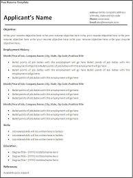 Blank Resume Template Pdf Blank Resume Templates Pdf Microsoft Office Resume  Templates Ideas