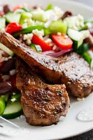 Lamb Chops And Greek Salad Cafedelitescom Mediterranean