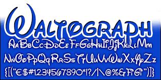 Disney Font Mickeyavenue Com Disney Fonts Waltograph